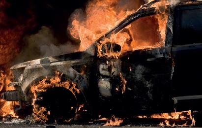 Voiture incendiée – Formation équipier 2 eme intervention 91